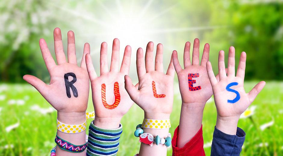 Children Hands Building Word Rules, Gras