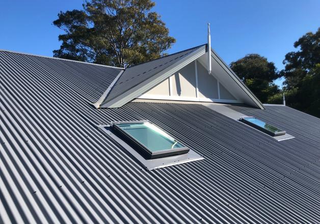 custom flashing M04's on a corry roof.jp
