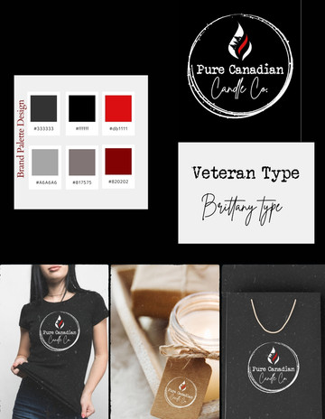 pure Canadian candle co  Brand palette.j
