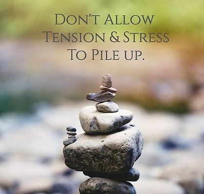 don't let stress pile up