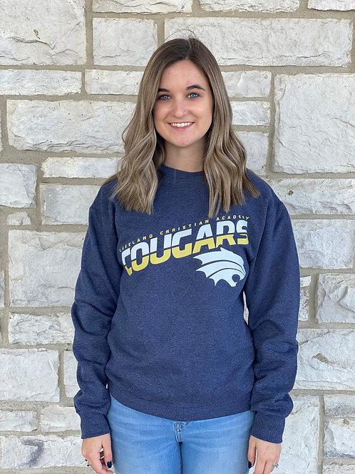 Adult Heather Navy Crewneck Sweatshirt