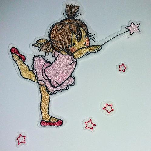 Kleine Ballerina, Tänzerin, rosa, Ballett, Spitzentanz mit Stern