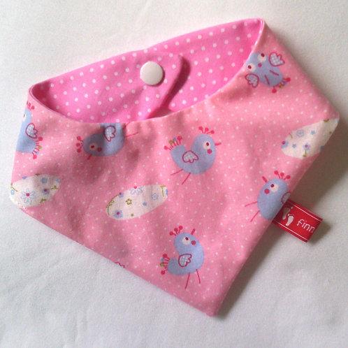 Baby-Halstuch Kinderhalstuch Sabberschutz bezaubernde kleine Vögelchen rosa