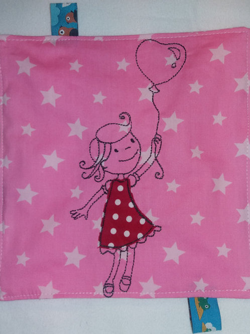 Knistertuch Schmusetuch Babyspieltuch Motoriktuch Lene Luftballon