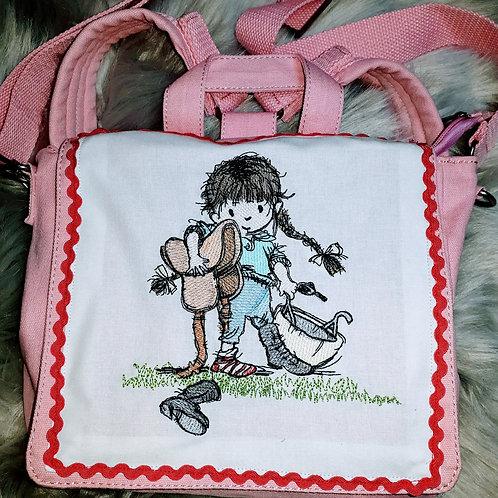 Kita-Tasche Kinder-Umhängetasche Fliegenpilz, Kindergartentasche,