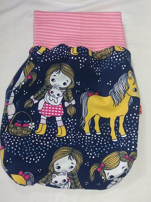 Puppenschlafsack Puckschlafsack Girl und Pony
