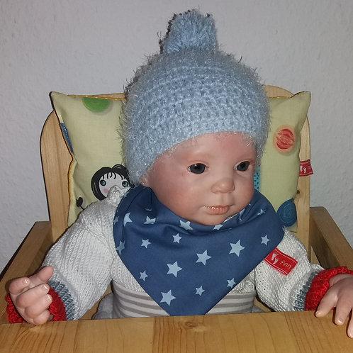 Baby-Halstuch Kinderhalstuch Sabberschutz Baumwolle Sterne dunkelblau