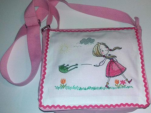 Kinder-Umhängetasche Froschkönig, Mädchentasche