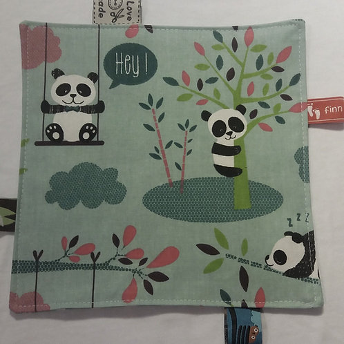 Knistertuch Schmusetuch Babyspieltuch Pandabären