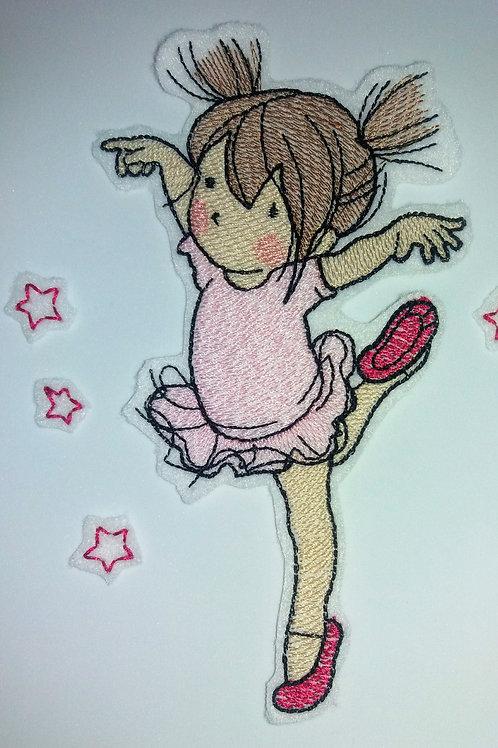 Kleine Ballerina, Tänzerin, rosa, Ballett, Spitzentanz