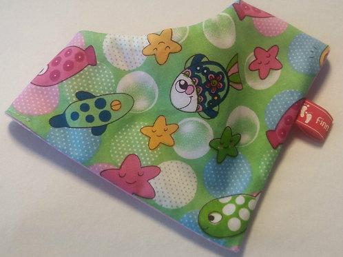 Baby-Halstuch Kinderhalstuch Sabberschutz Baumwolle Lauter bunte Fische