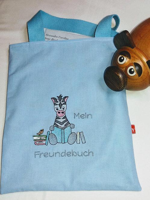 Freundebuchtasche Freundebuch-Tasche Meine Freunde Zebra