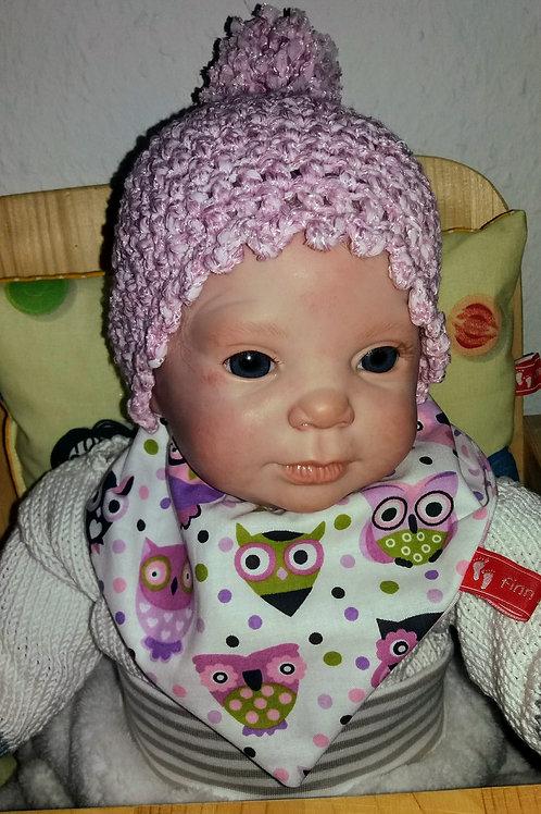 Baby-Halstuch Kinderhalstuch Sabberschutz Baumwolle Eulen