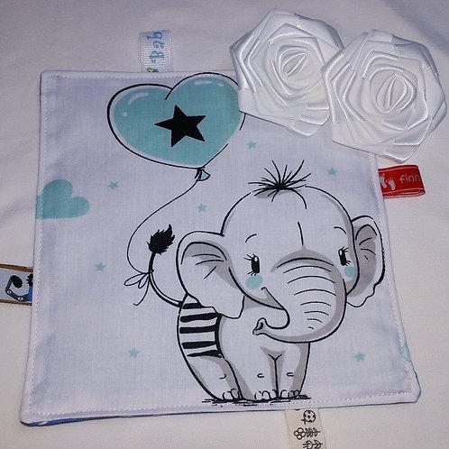 Knistertuch Schmusetuch Babyspieltuch Motoriktuch Elefantenbabies