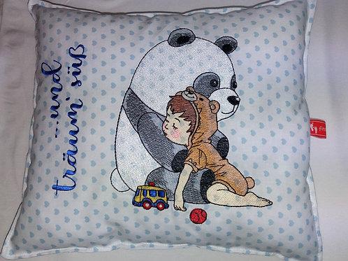 """Schmusekissen """"Pandabär"""" Schlafkissen Trösterkissen"""