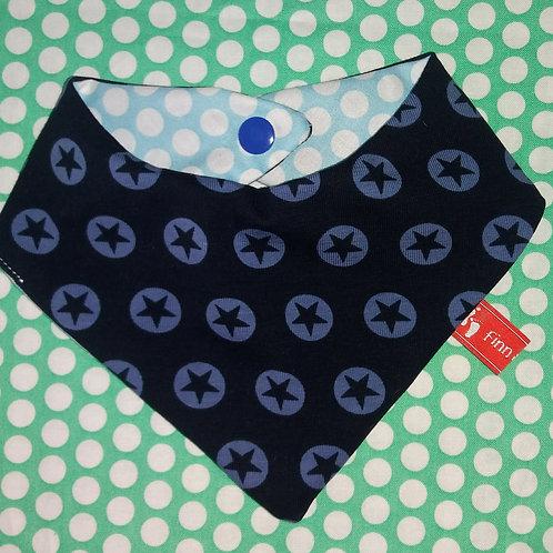 Baby-Halstuch Kinderhalstuch Sabberschutz Baumwolle blaue Sterne