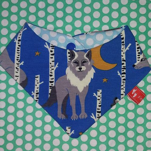 Baby-Halstuch Kinderhalstuch Sabberschutz Baumwolle coole Wölfe