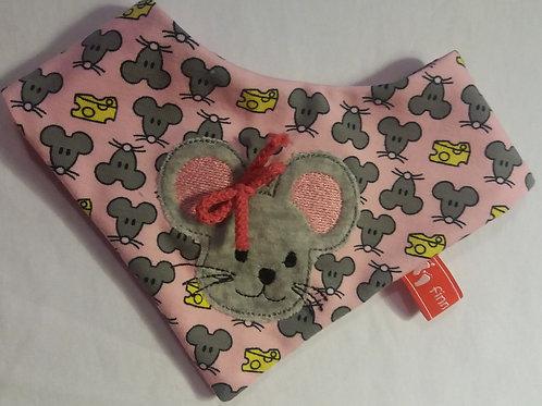 Baby-Halstuch Kinderhalstuch Sabberschutz Maus Baumwoll-Jersey