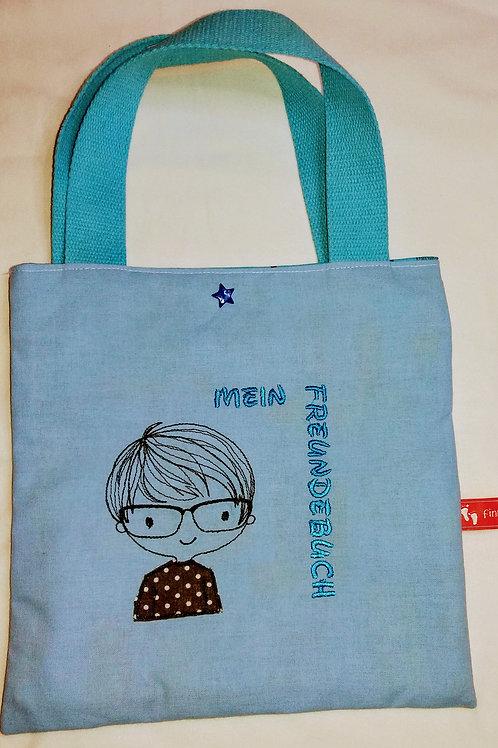 Freundebuchtasche Freundebuch-Tasche Meine Freunde Brillenträger-Junge