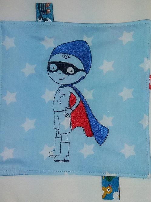 Knistertuch Schmusetuch Babyspieltuch Kleiner Supermann