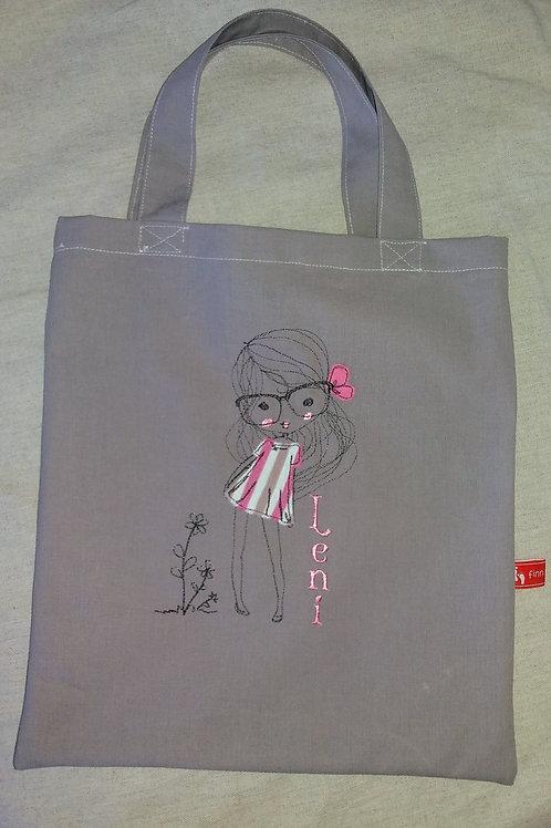 Kindertasche-Kaufladenzubehör Einkaufsbeutel mit Namen und Stickerei