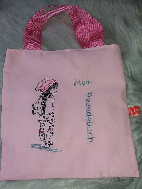 Freundebuchtasche Freundebuch-Tasche Meine Freunde Teenie-Girls