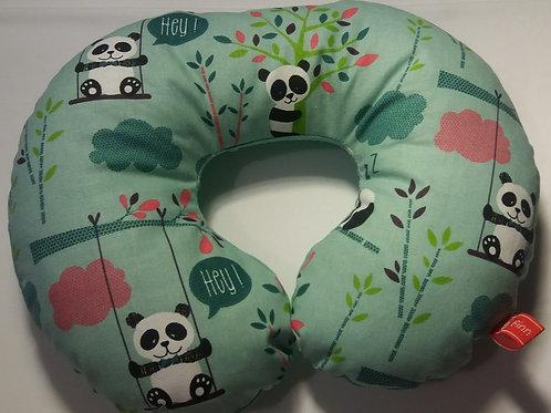 Nackenhörnchen, Schlafrolle, Nackenstütze Pandabären mit Namen
