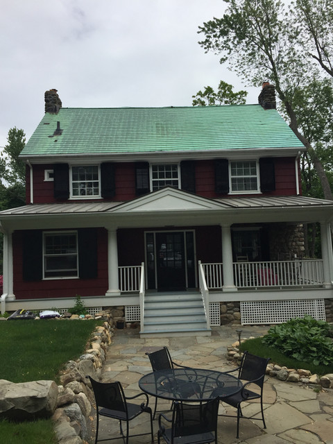 OLD COPPER ROOF REMOVAL