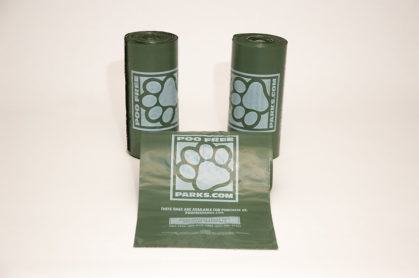 3 Roll Pack - PFP200G XL Dog Bags. 200 XL bags per roll, 600 total