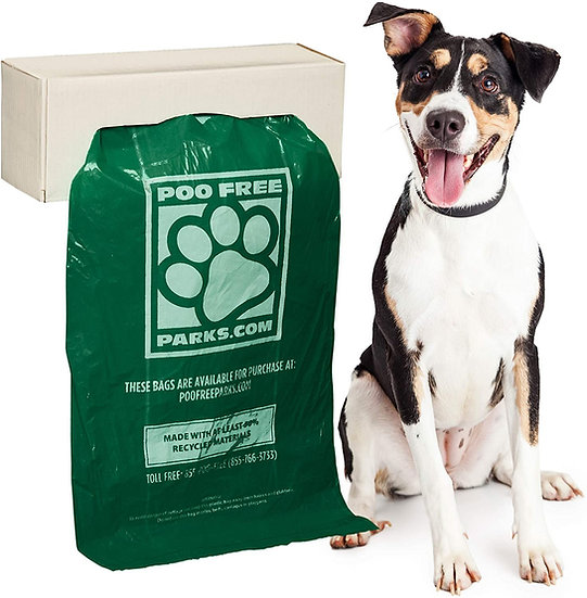 8 Box Pack - PFP200 Biodegradable Medium Dog Bags. 200 bags per box, 1600 total