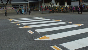 New Pencil Crosswalk In Abbotsford, BC