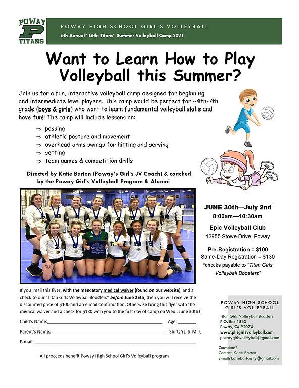 2021 Little Titans Summer Volleyball Cam