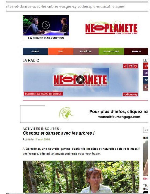 Jean-Michel Jamy découvre musique et sylvotherapie pour NEOPLANETE