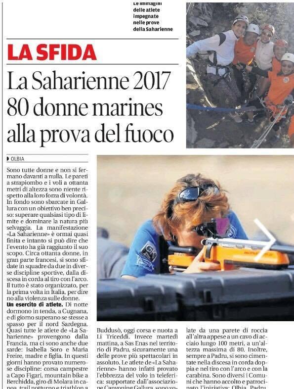 Raid Féminin et solidaire la Saharienne: épreuve de biathlon