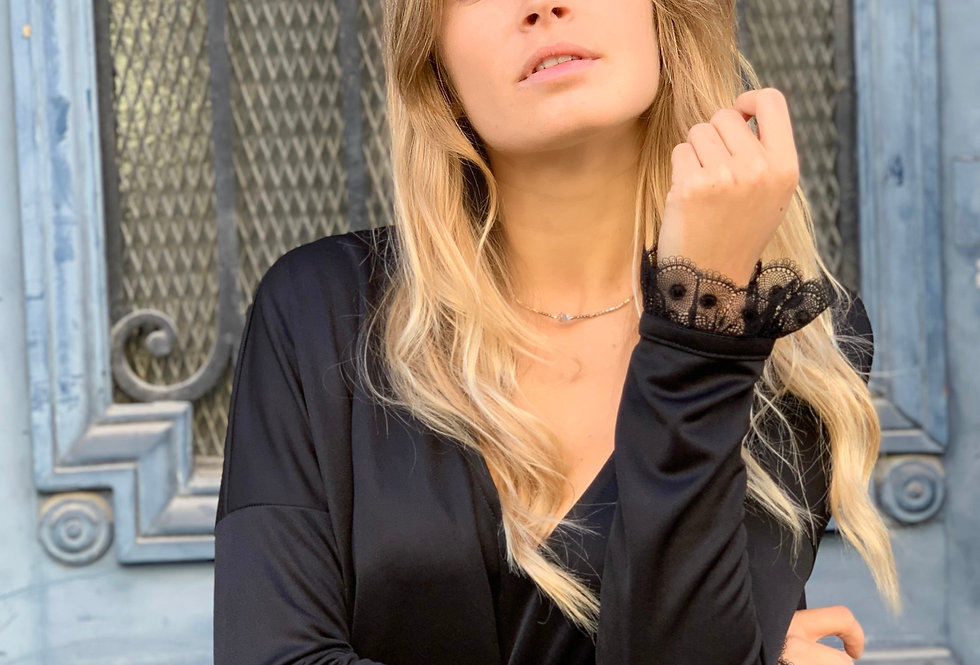 Robe OLYMPE Black & Lace
