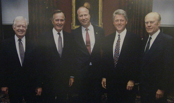 Presidents Carter, Bush, Clinton, Ford