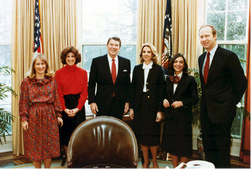 President Reagan and Staff