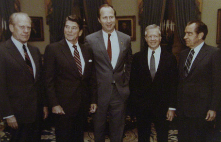 Presidents Ford, Reagan, Carter, Nixon