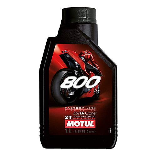 Motul Factory Line 800 2T 2 Stroke Road 100% Synthetic Premix, 1 LITER