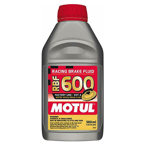Motul RBF 600 - Racing DOT 4 Brake Fluid 1/2L Bottle (16.9 Fl. oz)