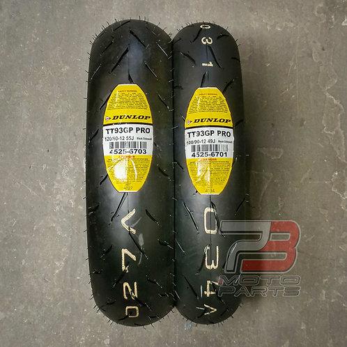 Dunlop TT93 GP Pro Mini Race Tire  Set 100/90-12 & 120/80-12