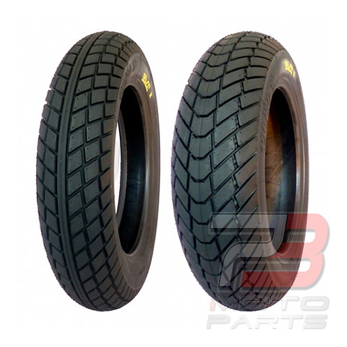 "12"" PMT Minimoto Racing Rain Tire Front & Rear Set 100/90-R12, 120/80-R12"