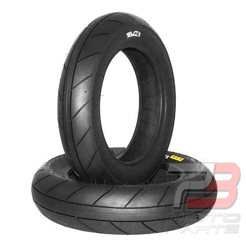 "10"" PMT Minimoto Intermediate Rain Tire Front & Rear Set For Ohvale, Bucci"