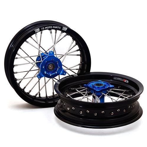 "Yamaha YZ65 12"" Minimoto Wheels Set with Buchanan's Spoke and Tusk Impact Hubs"