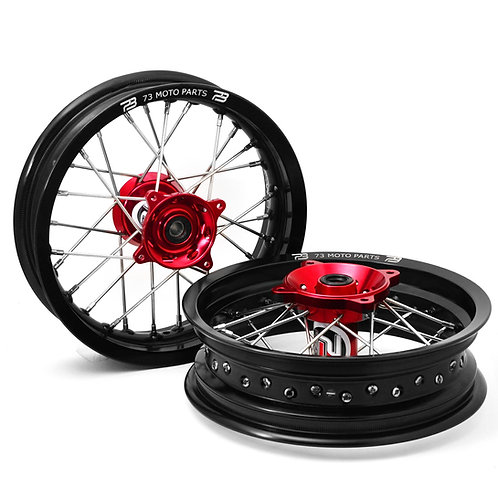 "Honda CRF150R 12"" Minimoto Wheels Set with Buchanan's Spoke and Tusk Impact Hubs"
