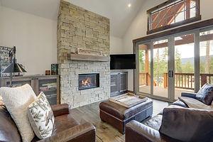 Cozy rustic, new luxury living room inte