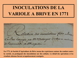 Inoculations de la variole à Brive en 1771