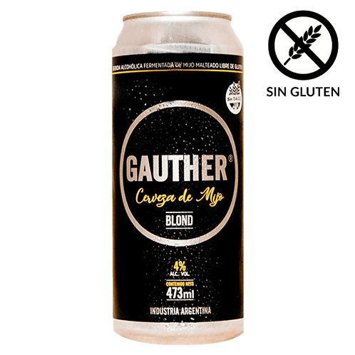 Cerveza Gauther Sin Tacc Pack 10 latas