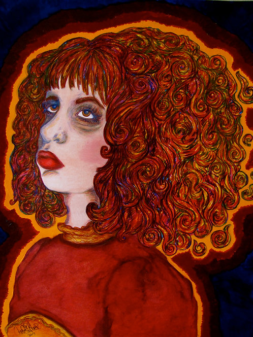 ORIGINAL - Self Portrait with Fire Hair