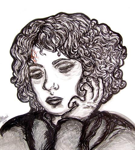 ORIGINAL - Grey Self Portrait